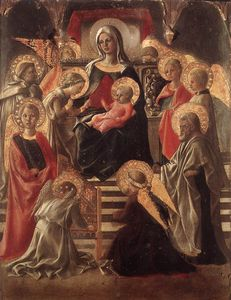 Fra Filippo Lippi - and Child Enthroned with Saints