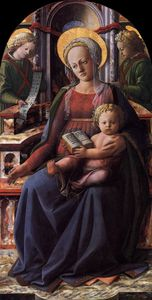 Fra Filippo Lippi - and Child Enthroned with Two Angels