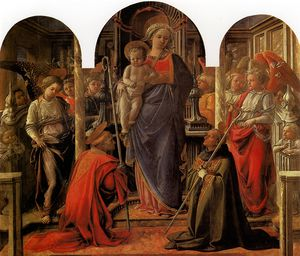 Fra Filippo Lippi - and Child with St Fredianus and St Augustine