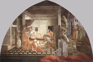 Fra Filippo Lippi - Prato-St Stephen is Born and Replaced by Another Child