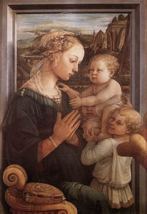 Fra Filippo Lippi - with the Child and two Angels