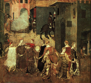 Ambrogio Lorenzetti - Effect of Good Government on the City (1