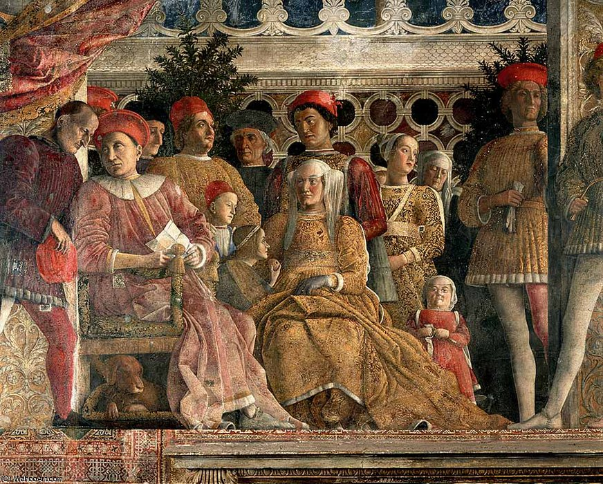 DucalPalace - The Court of Mantua (detail) by Andrea Mantegna (1431-1506, Italy)