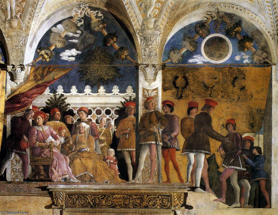 DucalPalace - The Court of Mantua by Andrea Mantegna (1431-1506, Italy) | Oil Painting | WahooArt.com
