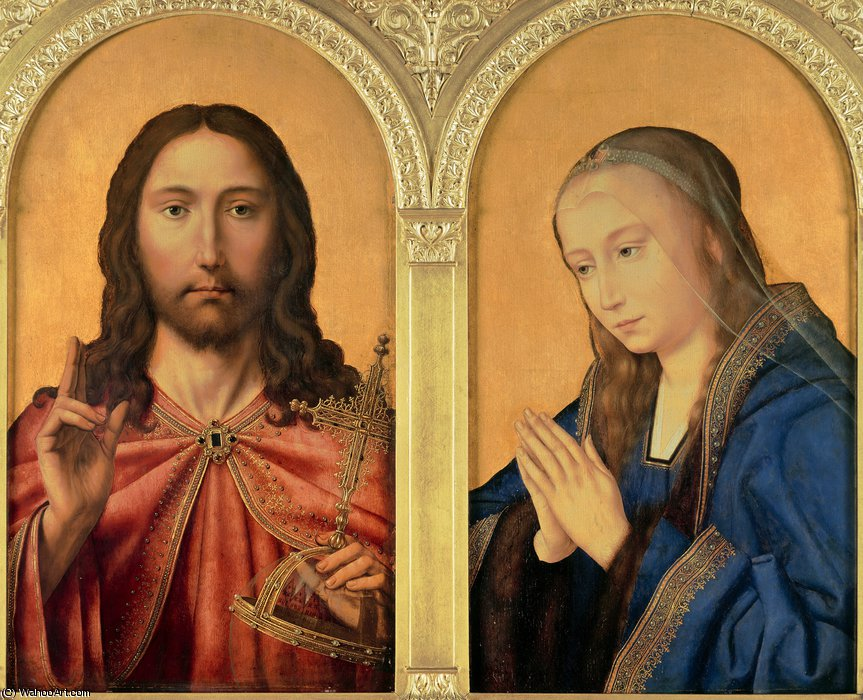 Diptych - Christ and the Virgin by Quentin Massys (1466-1530, Belgium)
