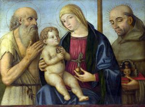 Girolamo Mazzola Bedoli - The Virgin and Child with Saints
