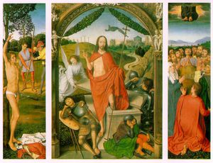 Hans Memling - The Resurrection, with the Martyrdom of Saint Sebast