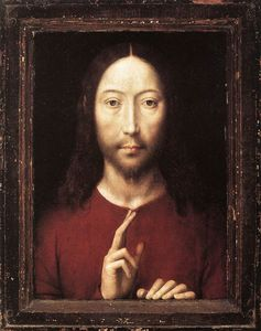 Hans Memling - late - Christ Giving His Blessing