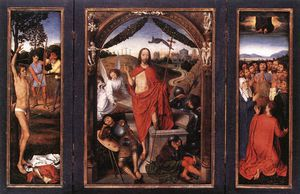 Hans Memling - late - Triptych of the Resurrection