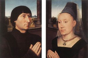 Hans Memling - middle - Portraits of Willem Moreel and His Wife