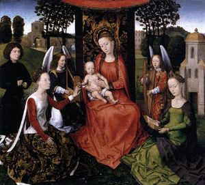 Hans Memling - middle - The Mystic Marriage of St Catherine