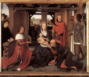 Hans Memling - middle - Triptych of Jan Floreins (central panel)