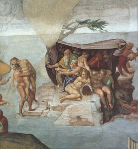 Michelangelo Buonarroti - Genesis Noah 7 9 The Flood right view