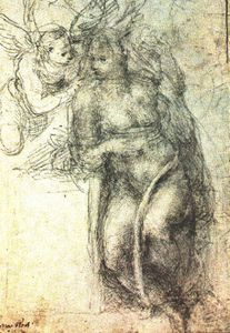 Michelangelo Buonarroti - - Study for an Annunciation