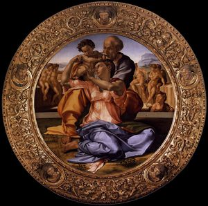 Michelangelo Buonarroti - the doni tondo (framed)