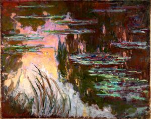 Claude Monet - Water-Lilies, Setting Sun