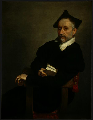 Order Reproductions | Titian`s schoolmaster by Giovanni Battista Moroni (1525-1578, Italy) | WahooArt.com