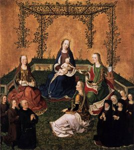 Master Of The Life Of The Virgin - and Child with Three Saints