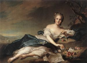 Jean-Marc Nattier - Marie Adelaide of France as Flora