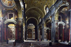 Giovanni Paolo Pannini - Rome - The Interior of St Peter's