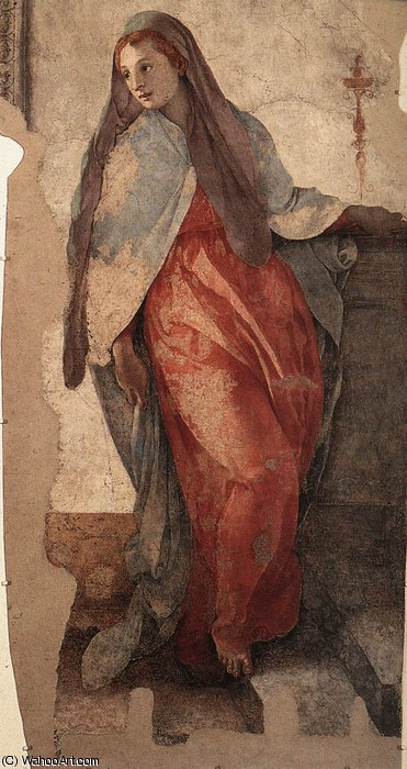 Annunciation (detail)2 by Jacopo Carucci (Pontormo) (1494-1557, Italy)