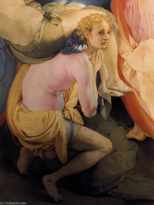 Deposition (detail) by Jacopo Carucci (Pontormo) (1494-1557, Italy) | WahooArt.com