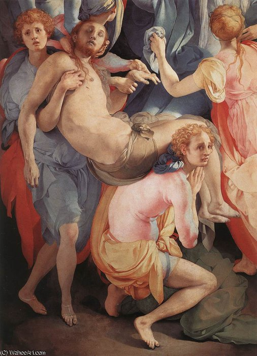 Deposition (detail)3 by Jacopo Carucci (Pontormo) (1494-1557, Italy) | Museum Quality Reproductions | WahooArt.com