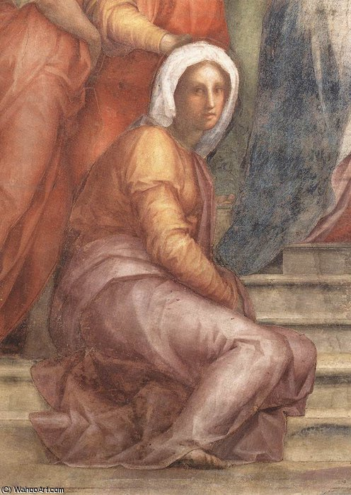 Visitation (detail) by Jacopo Carucci (Pontormo) (1494-1557, Italy)