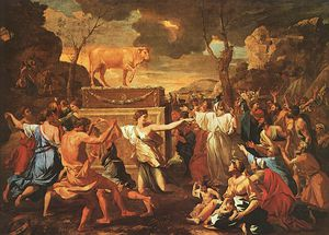 Nicolas Poussin - Adoraton of the Golden Calf