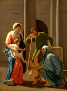 Nicolas Poussin - The Holy Family with Saints Elizabeth and John