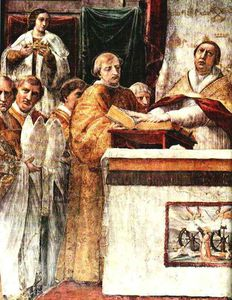 Raphael (Raffaello Sanzio Da Urbino) - The Oath of Pope Leo III (left view)