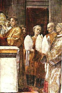 Raphael (Raffaello Sanzio Da Urbino) - The Oath of Pope Leo III (right view)