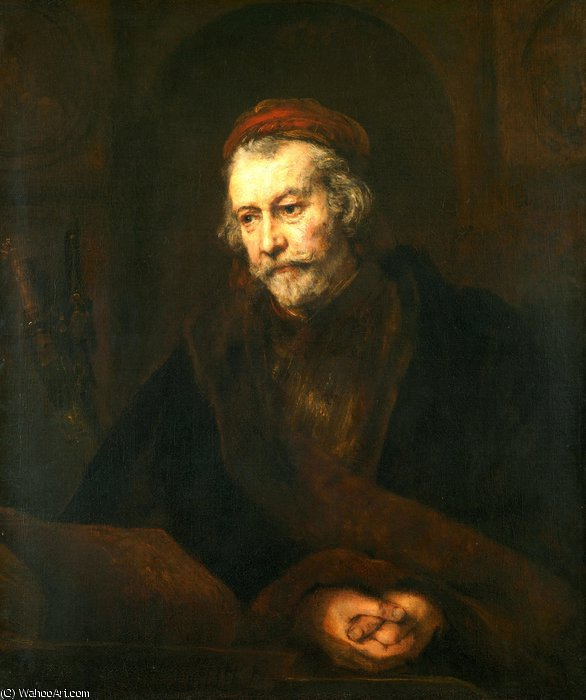 An Elderly Man as Saint Paul by Rembrandt Van Rijn (1606-1669, Netherlands)