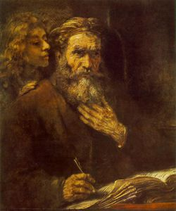 Rembrandt Van Rijn - Evangelist Matthew and the Angel