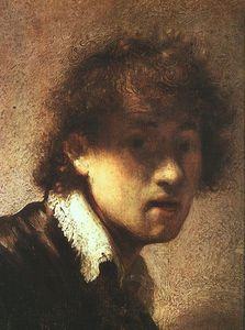 Rembrandt Van Rijn - Self portrait, panel