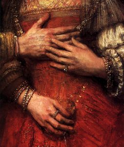 Rembrandt Van Rijn - The jewish bride (detail)2