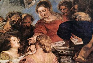 Peter Paul Rubens - Assumption of the Virgin (detail)2