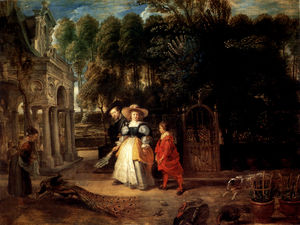 Peter Paul Rubens - in His Garden With Helena Fourment