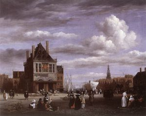 Jacob Isaakszoon Van Ruisdael (Ruysdael) - The Dam Square in Amsterdam