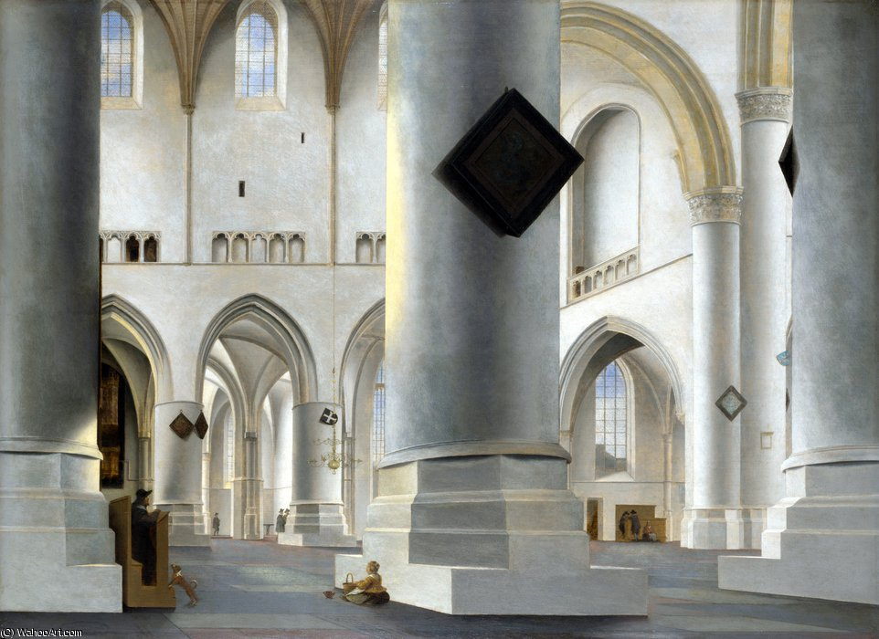 The Interior of the Grote Kerk at Haarlem by Pieter Jansz Saenredam (1597-1665, Netherlands)