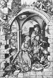 Martin Schongauer - The Nativity