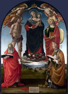 Luca Signorelli - The Virgin and Child with Saints