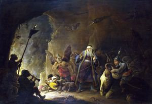 David The Younger Teniers - Rich Man being led to Hell