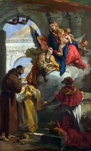 Giovanni Battista Tiepolo - The Virgin and Child appearing to a Group of Saints
