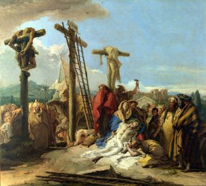 Giovanni Domenico Tiepolo - The Lamentation at the Foot of the Cross