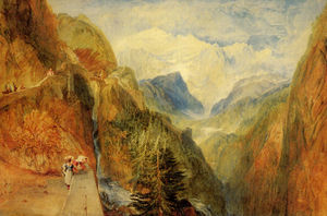 William Turner - Mont Blanc from Fort Roch Val d-Aosta