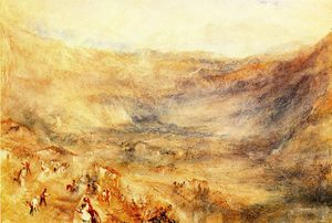 William Turner - The Brunig Pass from Meringen