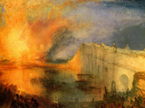 William Turner - The Burning of the Hause of Lords and commons
