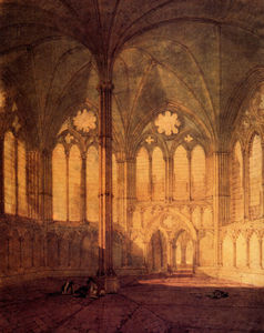 William Turner - The chapter house salisbury cathedral