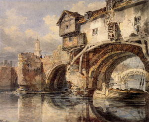 William Turner - Welsh Bridge at Shrewsbury